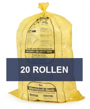 Wertstoffsäcke 200 Ltr. (1 Karton à 20 Rollen)